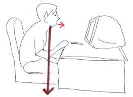 悪い座り方1画像