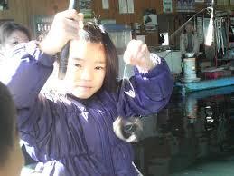 果弥と金魚釣り