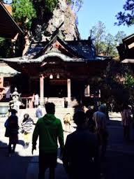 榛名神社本殿前